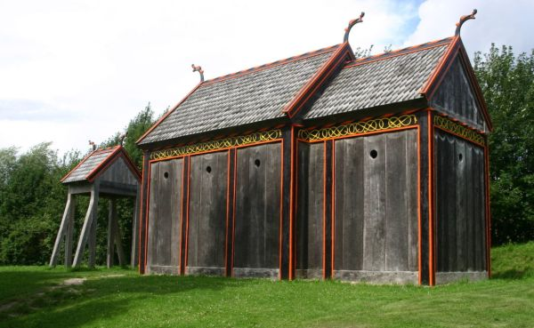 Reconstructed stave church from Hørning