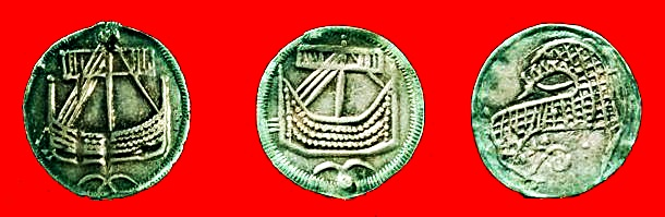 Three coins minted in Haithabu