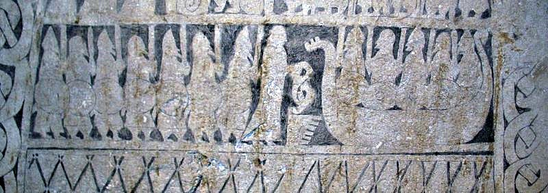 Detail of Stenkyrka Smiss image stone on Gotland