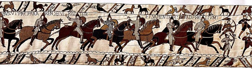 Norman cavalry on the Bayoux tapestry