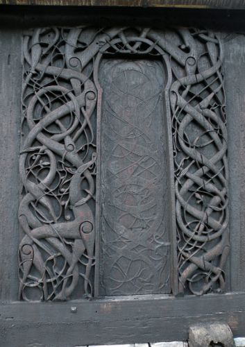 Urnes Stave Church's north portal
