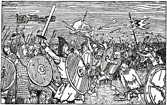 Haakon Adelstensfostre in battle against Gunhild's sons
