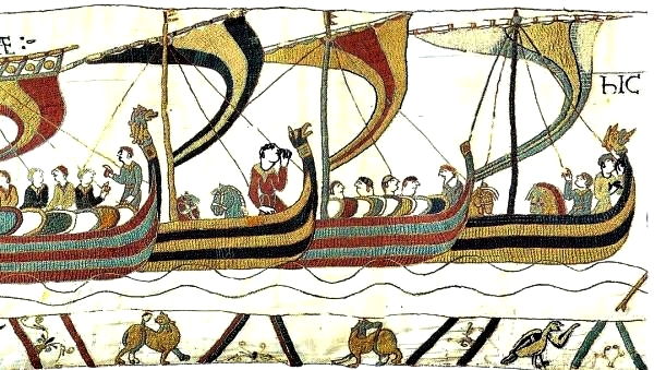 Viking Ships on the Bayeux tapestry.