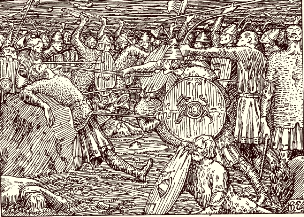 The killing of Olav the Holy in the Battle of Stiklestad