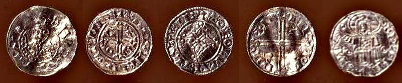 Five coins from Næsbyholm treasure