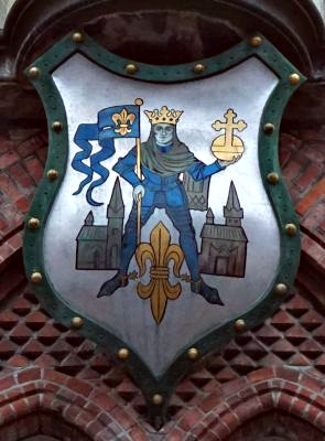 Canute the Holy in Odense city's coat of arms.