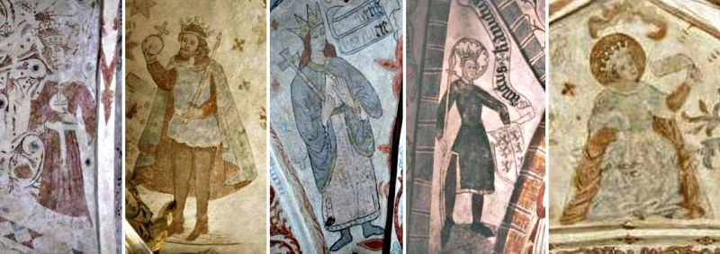 Scanian frescoes of King Canute the Holy