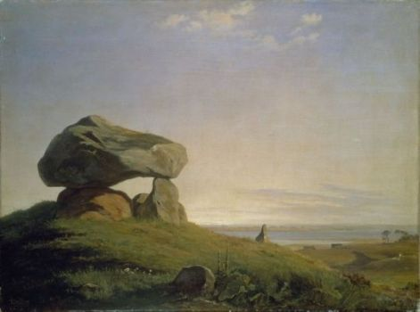 A mound of ancient times painted by J. Th. Lundbye in 1839
