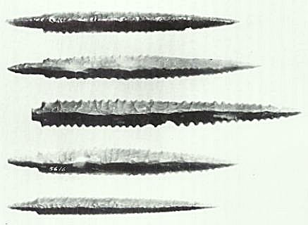 Pit Ceramics arrowheads or spearheads