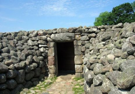 The entrance to the stone grave at Kivik
