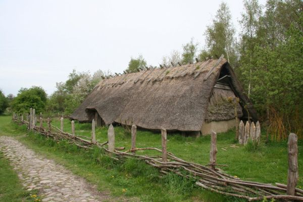Reconstruction of farm house from older Celtic Iron Age