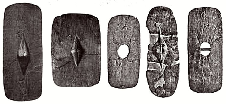 A selection of shields found in Hjortspring Mose