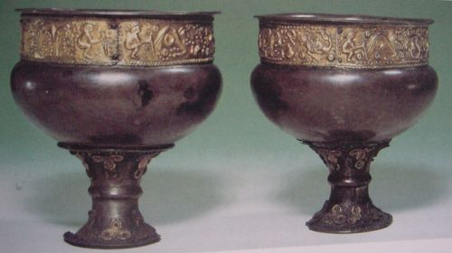 Two silver cups from Himlingøje