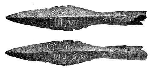 Lance tip with a runic inscriptions found near Kovel in the northwest corner of Ukraine