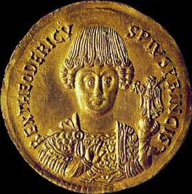 Coin with portrait of Theodoric