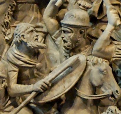 Gothic warrior on Portonaccio sarcophagus