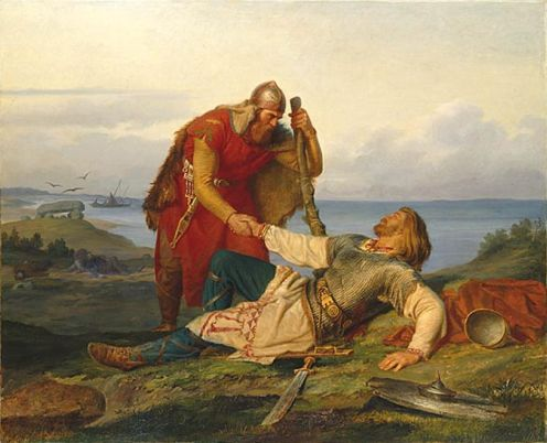 Hjalmar's farewell to Orvar Odd after the fight on Samsø