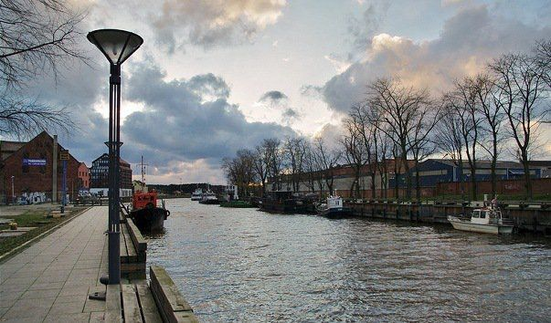 The river Dana through Klaipeda in Lithuania.