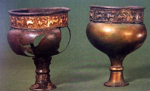 Two silver cups from Valløby at Tryggevælde