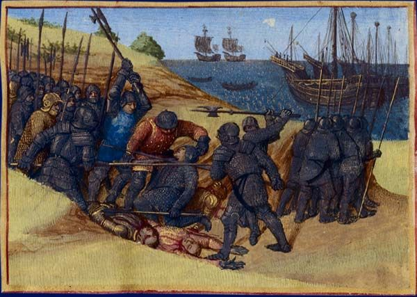 Fighting between Franks and Danes in 515 AD