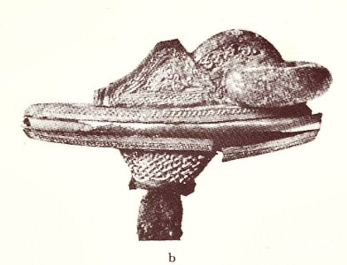 Upper part of the handle of a magnificent sword from Kyndby found at Kyndby near Fredrikssund