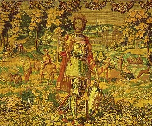 Canute the Sixth on one of Hans Knieper's Kronborg tapestries