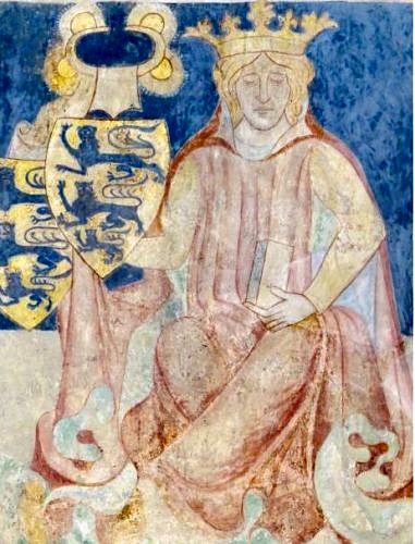 Canute the Sixth on mural in Ringsted Church