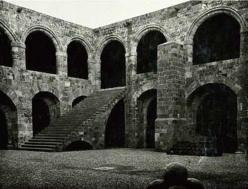 The courtyard of the Johannite fortress on Rhodes