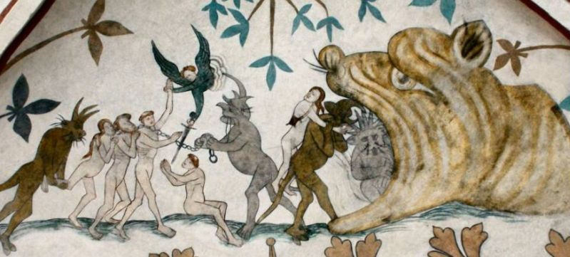 Mural in Højby Church condemned on the way to hell