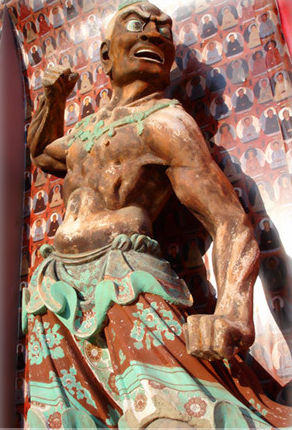A strong man - mural from the Dunhuang caves