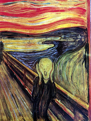 The famous painting The Scream by the Norwegian painter Edvard Munch