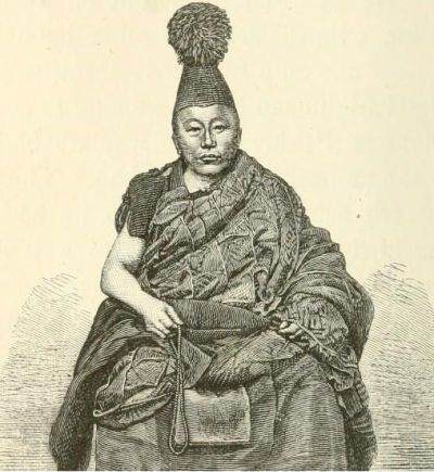 Drawing of Tangutan lama used by Przhevalskii