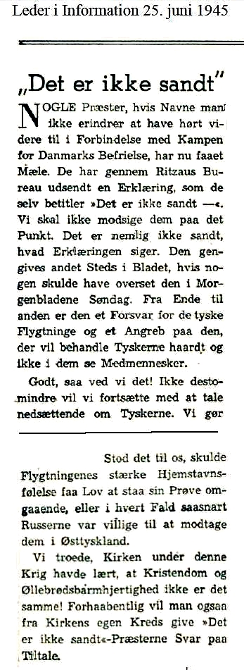 Section of editorial in a left-wing newspaper d. 25. Juni 1945