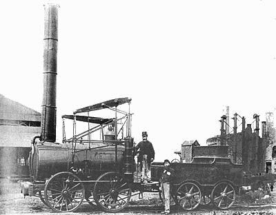 The english steam locomotive Agenoria 1829