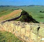 Hadrian's wall in North England near Scotland