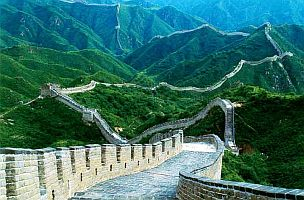 The Great Wall in the northern China at present Mongolia