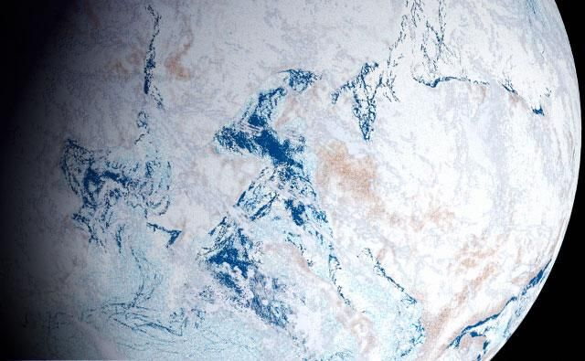 Artistic reconstruction of the Snowball Earth theory