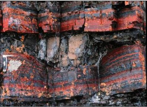 Banded iron formations from Mackenzie Mountains in Canada