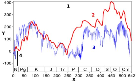 Global Sea surface Level Fluctuations in Phanerozoic
