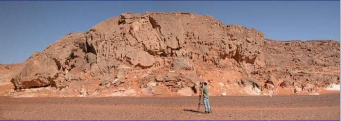 Glacial deposits from Ordovician in Sahara