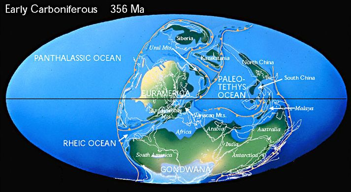 The World in early Carboniferous