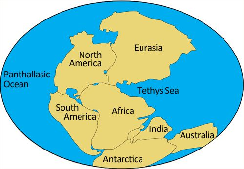 Simplified representation of Pangaea