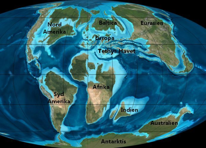 Map of the World in Cretaceous