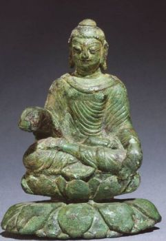 Gandhara Buddha found in an iron age grave from Helgo in Sweden