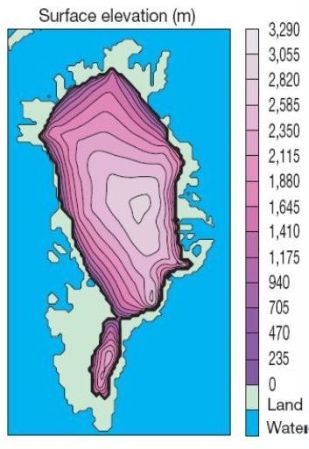 The Greenland  inland ice in the Eemian interglaciation