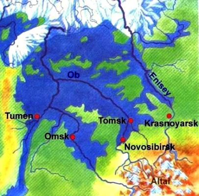 Pleistocene lake in the West Siberian Lowland