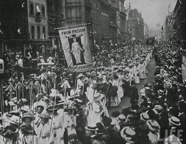 Suffragette demonstration i 1910