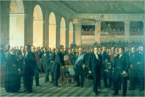 The constitudinal law giving assembly