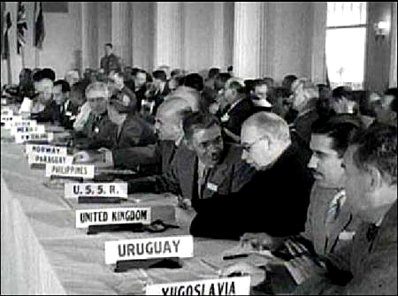 Keynes at the Bretton Woods conference in 1944