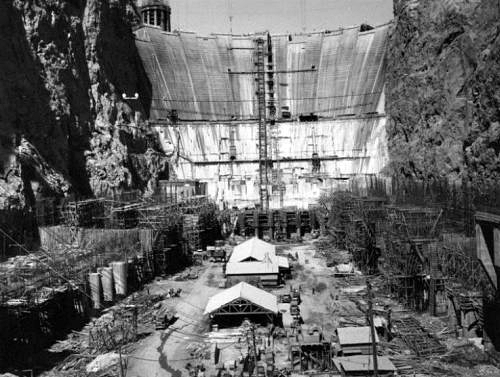 Hoover Dam under construction